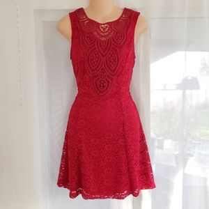 NEW Red Lace Cocktail Dress